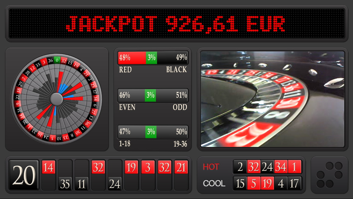 Electronic roulette jackpot