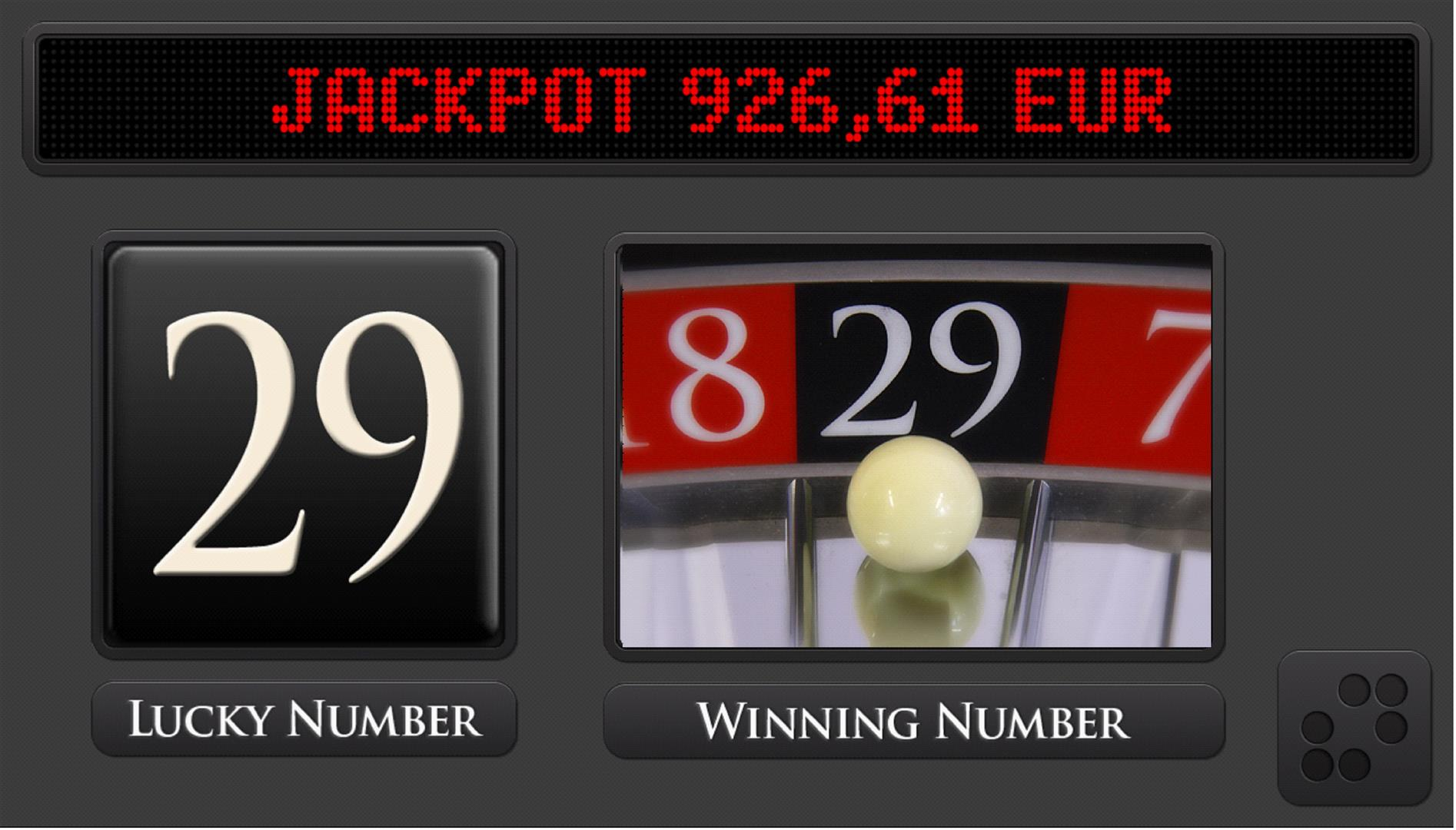 roulette machine jackpot winning number