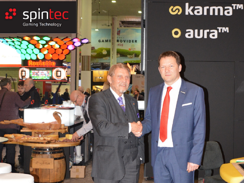 Gauselmann and Miskulin celebrated the new gaming technology partnership
