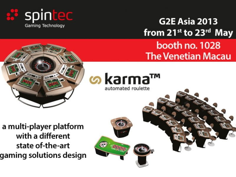 G2E Asia 2013, from 21st to 23rd May