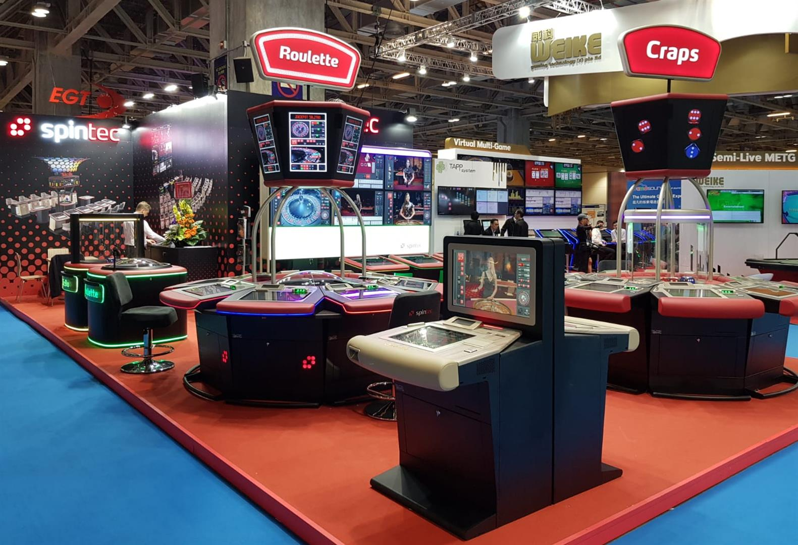 G2E Asia 2018 extraordinary success for Spintec gaming technology