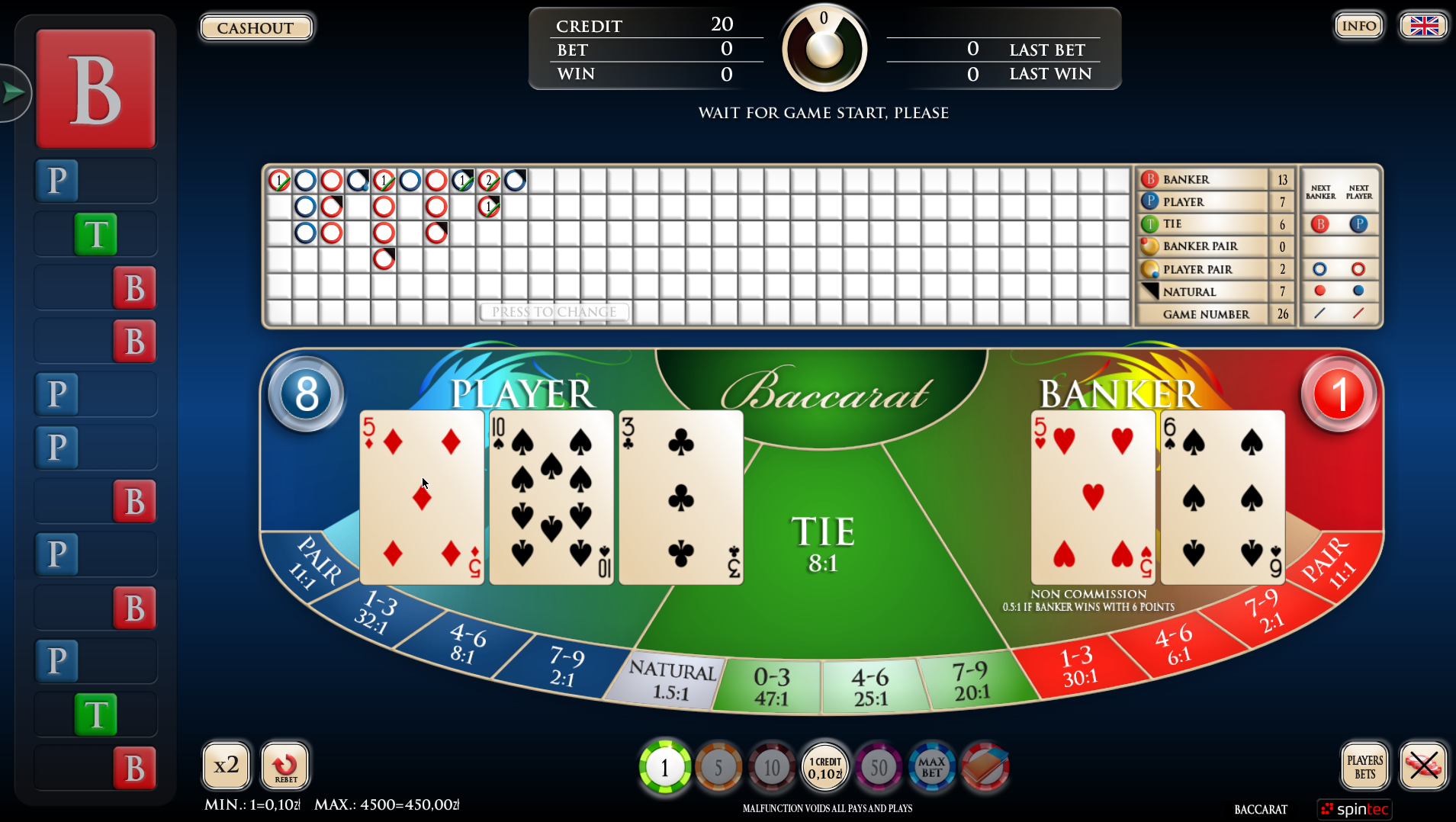 Karma Baccarat – A card game full of suspense and excitement!