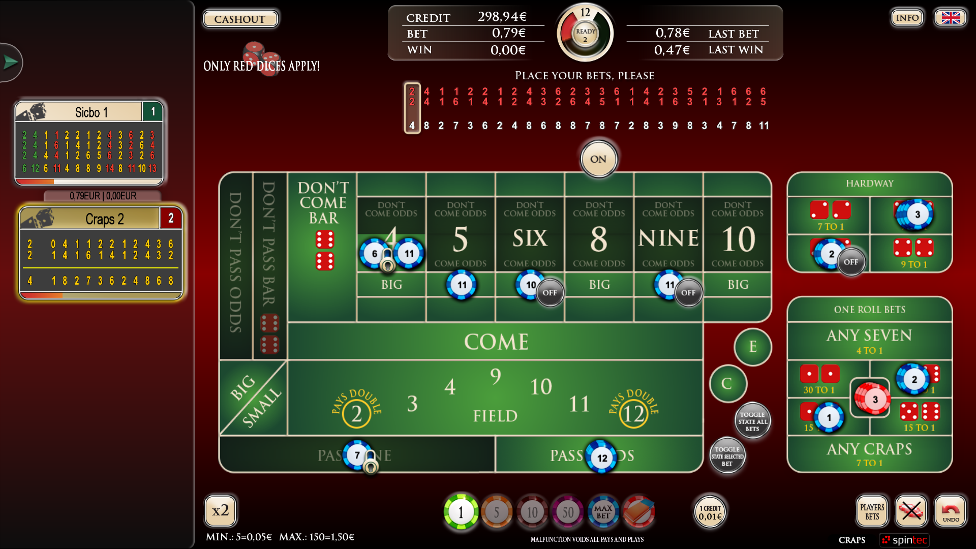 Karma Electronic Sic Bo / Craps – Rolling the dice has never been this exciting